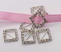 ribbon slider buckles оптовых-Горячо ! 50шт 12мм бар серебряная пластина класса Кристалл горный хрусталь ленты пряжки слайдер приглашение свадебные принадлежности 19,5 мм.
