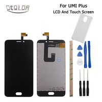 Wholesale Digitizer Adhesive - Wholesale- Umi Plus LCD Display and Touch Screen Original 5.5inch Screen For Umi Plus Digitizer Assembly Replacement+Tools+Adhesive+case