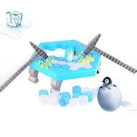 Wholesale Puzzle Blue - Save Penguin Knock Ice Block Interactive Family Game Penguin Trap Puzzle Table Games Ice Cubes Puzzle Toys