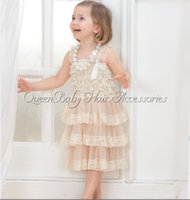 Wholesale Dress Tutu Baby Petti - Hot Sales! Baby Girl Ivory Petti Lace Dress ,Ivory Lace Petti Dress,Baby Girl Outfit,Photography Prop 4pcs lot