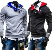 Wholesale Mens Xl Hoody - Wholesale-Track Suit Mens Sports Suit Men Sweat Homme Assassin Creed Jacket Ropa Hombre Hiphop Cardigan Urban Clothing Polo Hoodie Hoody