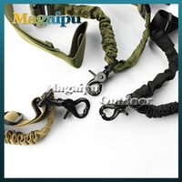 Wholesale Using Rifle Sling - Free Shipping New Single Point 1 Point Tactical Bungee Sling for Airsoft Rifle Gun or Outdoor Activities Army Uses