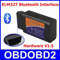 Wholesale Supports Obd2 Protocols - Best Hardware V1.5 ELM327 Bluetooth Scanner ELM 327 OBD2 Diagnostic Tool OBDII Interface Supports All OBD II Car Protocols