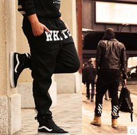 Wholesale Loose Trousers Printed Fashion - Wholesale-Brand Pants OFF WHITE PYREX Printed Mens Hip Hop Joggers Casual Sweatpants 2015 Fashion Skateboard Loose trousers, plus size 5XL