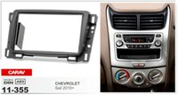 Wholesale Chevrolet Sail - CARAV 11-355 Top Quality Radio Fascia for CHEVROLET Sail 2010+ Stereo Fascia Dash CD Trim Installation Kit