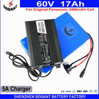 BOOANT EU US Free Customs 60V 17AH 1400W Usa batteria 186-E-Bike Li-ion originale Panasonic 18650 per Bafang BBS 1400W Motore