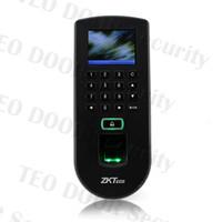 Wholesale Rfid Reader Keypad - Free Shipping Finger Print Access Linux Fingerprint Reader Access Door LCD ZK TF1900 Fingerprint + RFID + Keypad + LED Screen