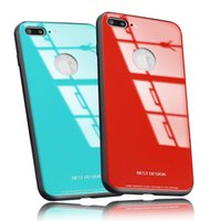 Wholesale Bumper Case Back Cover - New For iPhone X 8 Plus Ultra Thin Tempered Glass Back Phone Cases Cover Gel Bumper Original Color Shockproof For iPhone 6 7