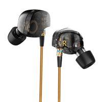 Wholesale Original Pro Headphones - KZ ATE Latest Original Brand Super Bass In-Ear Earphone Earbuds with Mic 3.5mm Hifi Gold Plated Go Pro Music Headphone Eearphone