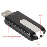Wholesale Dvr U8 - 2015 Hot Mini DVR U8 USB Disk HD Hidden Spy Pinhole Camera Detector Video Recorder free shipping