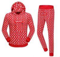 Wholesale Fleece Suit Jacket - New Fashion supp Men and Women's hooed fleece casual Jacket Students Sweatshirts printing brand suits Unisex Casual Coat tops with pants