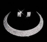 hacer joyas personalizadas al por mayor-Diseñador 2019 Pendientes de diamantes por encargo Collar Fiesta de graduación Boda formal Conjunto de joyas Accesorios nupciales Envío gratis En stock