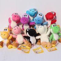 Wholesale Yoshi Plush Sale - Hot Sale Super Mario Bros Yoshi Plush Toys Stuffed Soft Dolls With Keychains 10 Colors Free Shipping