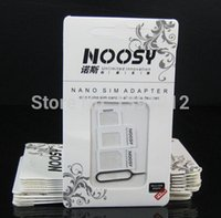 Wholesale S3 Mini Sim - Wholesale-Wholesale Noosy 3 in 1 Nano Micro Standard SIM Card Adapter For i Phone 5 5S 4 4S Galaxy S3 In 1 From Nano to Micro Mini Sim