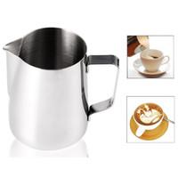 ingrosso latte latte-Tazza in acciaio inox per tazza con fiore per bricco Pitcher Caffettiera 150-600ml Tazza per bricco Cappuccino Strumenti per cucinare Latte Fritte Latte Art