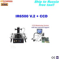 Wholesale Bga Rework Station For Laptop - IR bga rework station IR6500 V.2 +CCD camera with 8'' monitor,bga chip repair machine for laptop motherboards to Russia no tax!