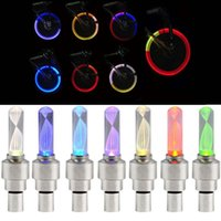 Feux De Vannes De Vanne Automatique Pas Cher-500pcs Bike lumières Mountain Road Bicyclette Light Lights LEDS Pneu Tire Valve Caps Roue Spokes LED Light 7 couleurs Auto Lampe Lampes