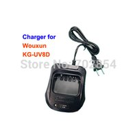 Wholesale Round Pin Adaptor - Wholesale-Free shipping two way radio accessories 220V charger for Wouxun KG-UV8D radio round 2 pin adaptor walkie talkie charger