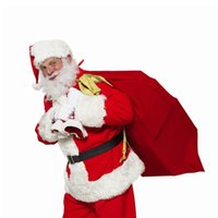 HOT 50 * 70cm ROSSO Natale Babbo Natale Trattare Gift Bag Candy Titolare Presente Sacco calza Xmas Party Decoration DHL