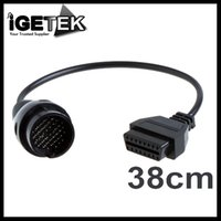 Wholesale Mercedes Obd Adapter - Wholesale-38Pin to 16Pin OBD 2 OBD2 Female Adapter Connector Cable Car Accessories Tool for Mercedes Benz Brand OBD Wires Cable