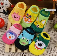 Wholesale Children Socks Wholesale Floor - Selling baby cartoon socks 0-36 months children slip floor socks 2016 child soft toddler shoes boy conditio 50pair 100pcs B3