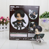Wholesale Titan Shingeki - Nendoroid Attack on Titan Shingeki no Kyojin Scouting Legion Levi Rivaille PVC Action Figure Model Collection Toy