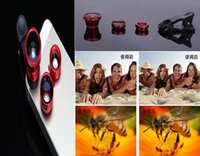 Wholesale S4 Eyes - 2015 Best selling Universal 3in1 Clip-On Fisheye Lens Wide Angle Macro Mobile Lens For iPhone 4 5 Samsung Galaxy S4 S5 All Phones Fish Eye
