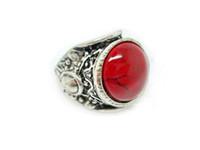 антикварные бирюзовые кольца для женщин оптовых-Старинные кольца драгоценный камень для женщин и мужчин Античное серебро стерлингового серебра Тибетский красочные бирюзовые кольца ассорти конструкций