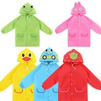 Wholesale Children Rain Coat Cartoon Animal - Multicolor Kids Rain Coat Animal Style Children Waterproof Raincoat Rainwear unisex cartoon Kids Raincoats 50PCS