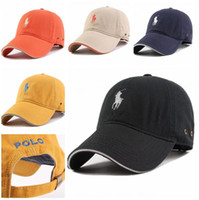 Wholesale Mens Hats Caps - Luxury Brand Polo Baseball Golf Cap for Men snapback hat Women sports hip hop flat sun hats bone gorras cheap mens Casquette C443