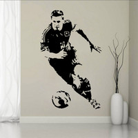 Wholesale bathroom decor for boys resale online - Sports Footballer of The Year Lionel Messi Shoot the Soccer Wall Stickers Kids Boys Room Wall Decor