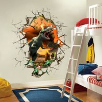 Wholesale Dinosaur Wall Decor For Kids - Cartoon 3D dinosaur Wall Sticker for Boys room Child Art Decor Decals ZY1461
