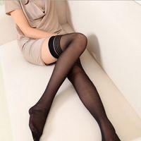 Wholesale Womens Hosiery Thigh High - Sexy Womens Striped High Socks Thigh High Hosiery Above Knee Socks Hot Sale