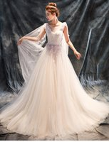 Wholesale Beautiful Dimensional Applique - 2017 new elegant tulle three-dimensional handmade flower beautiful shawl back hollow high waist was thin lace-up wedding dress -y