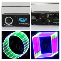 Wholesale Dj Laser Light 3d - 3D RGB Colorful Logo Projector Laser Light with lcd display, Home Party Disco Lighting For Sale