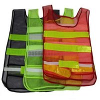 Wholesale man work clothing online - 3 Colors Safety Clothing Reflective Vest Hollow Grid Vest High Visibility Warning Safety Working Construction Traffic Vest CCA8292