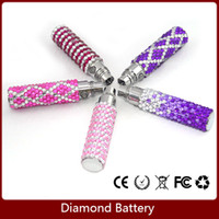 Wholesale Ego Diamond Electronic Cigarette - Ego T Bling Battery 650mAh,900mAh,1100mAh Ego-T Colorful Luxury Diamond Shinning Batteries For E Cig Electronic Cigarette E cigarette