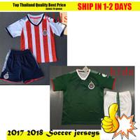 Wholesale Uniforms Dhl - DHL more 10pcs Mexico Club Camiseta de futebol 2018 Chivas de Guadalajara Kids Youth Boy Soccer Jerseys 17 18 uniform Football Shirts