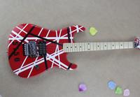 hardware de guitarra eléctrica de la más alta calidad al por mayor-Venta al por mayor guitarra roja de alta calidad Eddie Van Halen 5150 diapasón de arce cromo hardware guitarra eléctrica envío gratis