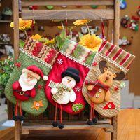 Wholesale doll socks wholesale - 2017 Hot Sale Santa Claus Snow Man Reindeer Doll Christmas Decoration Xmas Tree Hanging Ornaments Pendant Kids Best Gift Christmas socks