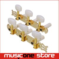Wholesale Gold Tuning Heads - A set of 1R1L Gold Classical Guitar Tuning Pegs Keys Tuners Machine Heads MU0660