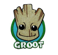 Wholesale cartoon patch clothing online - Cute GROOT Cartoon Embroidered Iron on Patch Kids Favorite Badge DIY Applique Clothing Patch Emblem inch