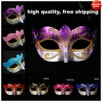 maskeli parti maskeleri satılık toptan satış-Satışa Parti maskeleri Venedik masquerade Maske Cadılar Bayramı Maskesi Seksi Karnaval Dans Maske cosplay fantezi düğün hediyesi mix renk ücretsiz kargo