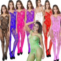 Wholesale Mature Sexy Women Lingerie - Free Shipping one piece open bust floral lace mature bodystocking Women Sexy Lady Pantyhose Open Crotch Babydoll Lingerie Black 3pcs lot