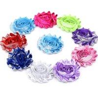 Wholesale Ruffles Clips - 81pcs Shabby Chiffon Rosette Trim flower baby hair flower hair clips lace ruffles flower Sequined bows flower