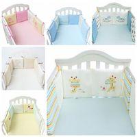 Wholesale Crib Bedding Sets Wholesale - 6pcs set Cartoon Animal Crib Bumper Baby Bed Bumper in the Crib Bumper Baby Bed Protector Crib Bumpers Newborn Bedding Sets CCA8154 10set