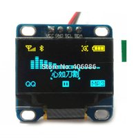 """Wholesale Serial Led Display - 0.96"""" Inch Yellow and Blue I2C IIC OLED LCD Module Serial 128X64 LED Display for Arduino 51 MSP420 STIM32 SCR"""