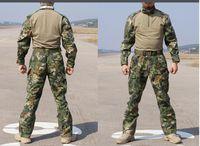 Wholesale Tactical Training Uniforms - Chiefs Rattlesnake Camo Tactical SEAL TEAM MANDRAKE Set Shirt & Pants Uniform Kryptek style Man Snake Combat Gen2 G2 training suit