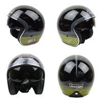 Wholesale Open Face Cross Helmet - Wholesale-Free shipping 2014 new the cross moto adult Tanked racing helmet 3 4 open face vintage helmet motorcycle man women's helmets