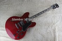 Wholesale Jazz Guitar Model - Free Shipping 2016 New model JAZZ guitar G custom 335 hollow Wine red electric guitar